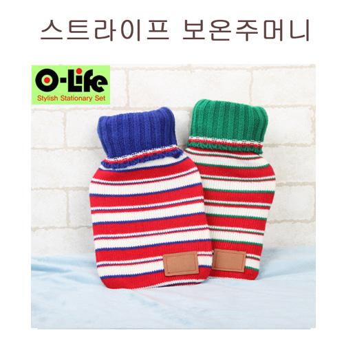 O-life냉/온겸용 찜질 주머니(스트라이프)